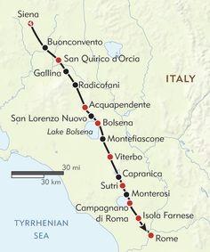 Siena to Rome
